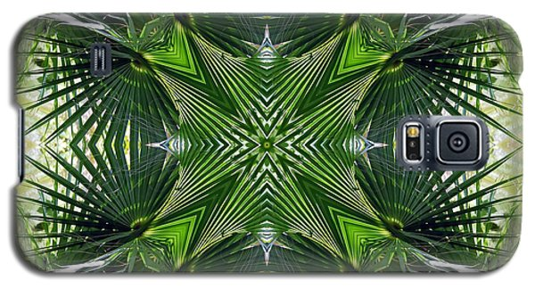 Galaxy S5 Case featuring the photograph Palm Frond Kaleidoscope by Francesa Miller