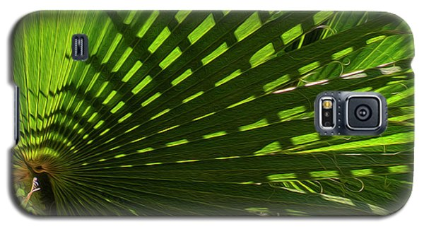 Galaxy S5 Case featuring the photograph Palm Pattern No.1 by Mark Myhaver