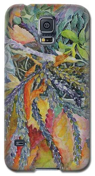 Galaxy S5 Case featuring the painting Palm Springs Cacti Garden by Joanne Smoley