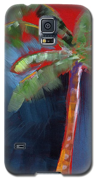 Palm Tree- Art By Linda Woods Galaxy S5 Case by Linda Woods