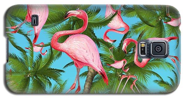 Flamingo Galaxy S5 Case - Palm Tree by Mark Ashkenazi