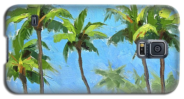 Palm Tree Plein Air Painting Galaxy S5 Case