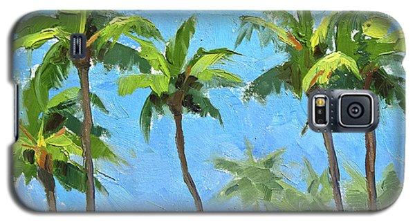 Palm Tree Plein Air Painting Galaxy S5 Case