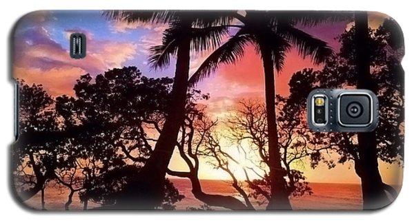 Palm Tree Silhouette Galaxy S5 Case by Kristine Merc