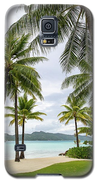 Galaxy S5 Case featuring the photograph Palm Trees 1 by Sharon Jones