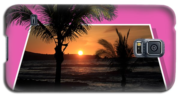 Palm Trees At Sunset Galaxy S5 Case