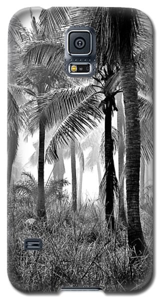 Palm Trees - Black And White Galaxy S5 Case