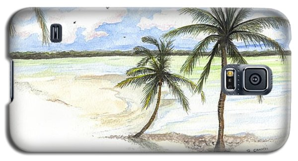 Palm Trees On The Beach Galaxy S5 Case