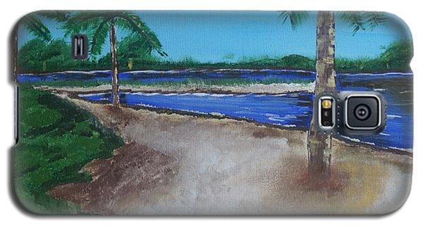 Palm Trees On The Beach Galaxy S5 Case