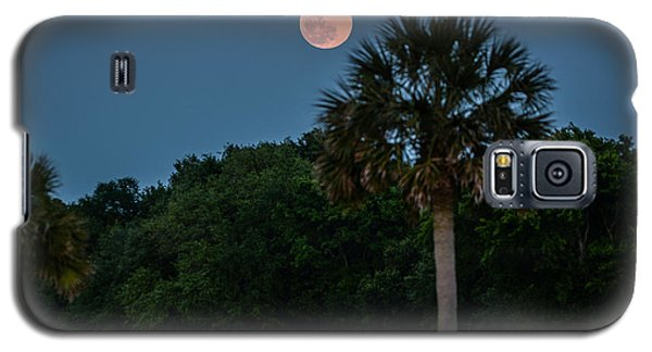 Galaxy S5 Case featuring the photograph Palmetto Full Moon by RC Pics
