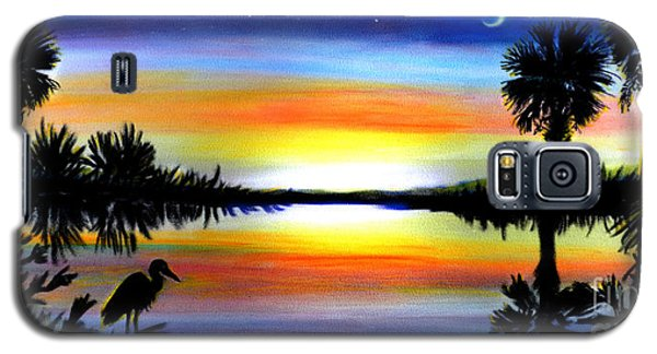 Palmetto Moon Low Country Sunset II Galaxy S5 Case by Patricia L Davidson