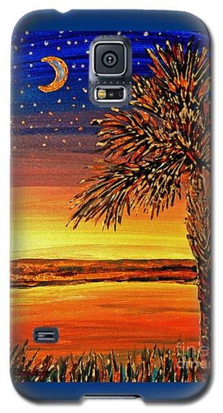 Palmetto Sunset  Galaxy S5 Case by Patricia L Davidson