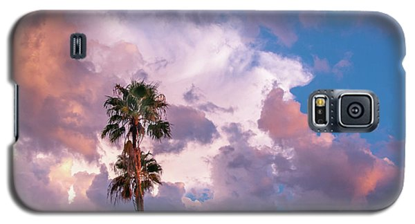 Galaxy S5 Case featuring the photograph Palms At Sunset by Carolyn Dalessandro