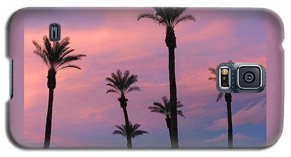 Galaxy S5 Case featuring the photograph Palms At Sunset by Phyllis Kaltenbach