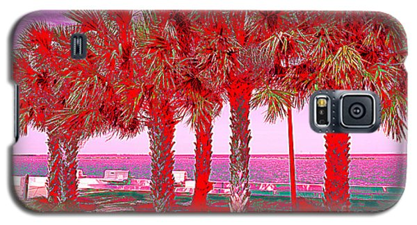 Palms In Red Galaxy S5 Case