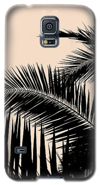 Palms On Pale Pink Galaxy S5 Case