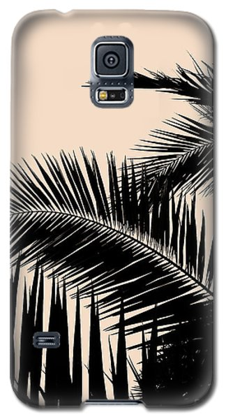 Palms On Pale Pink Galaxy S5 Case