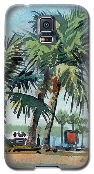 Palms On Sanibel Galaxy S5 Case by Donald Maier