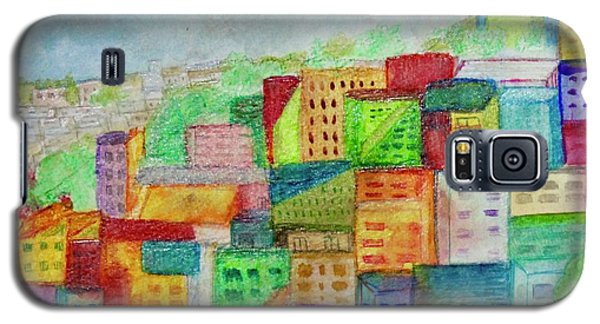 Galaxy S5 Case featuring the painting Palmyra by Kim Nelson