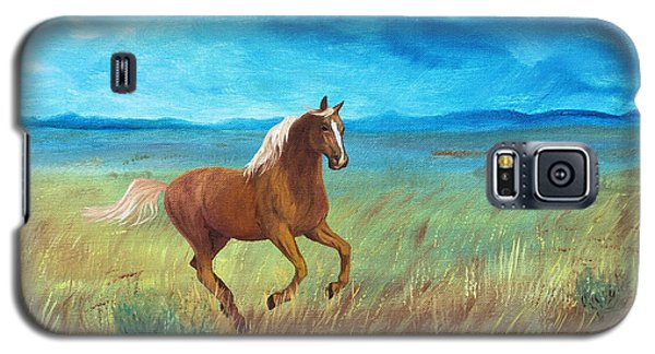 Galaxy S5 Case featuring the painting Palomino Storm by Jan Amiss
