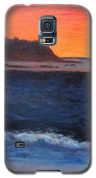 Galaxy S5 Case featuring the painting Palos Verdes Sunset by Jamie Frier