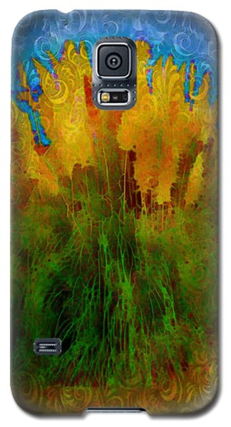 Galaxy S5 Case featuring the photograph Pampas Grass by Iowan Stone-Flowers