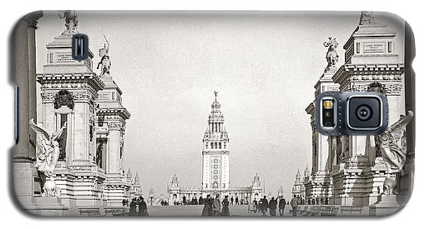 Galaxy S5 Case featuring the photograph Pan Am Tower Approach 1901 by Martin Konopacki Restoration
