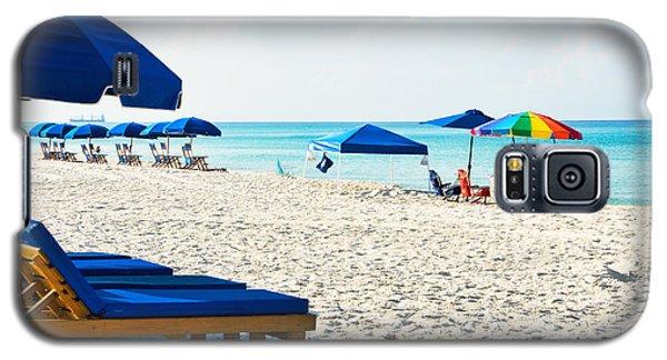Panama City Beach Florida With Beach Chairs And Umbrellas Galaxy S5 Case