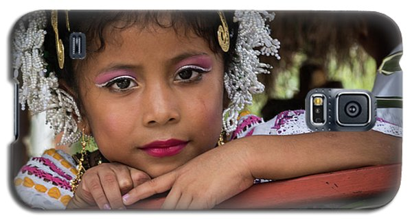 Panamanian Girl On Float In Parade Galaxy S5 Case