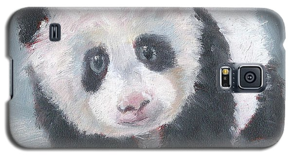 Galaxy S5 Case featuring the painting Panda For Panda by Jessmyne Stephenson