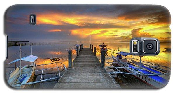 Galaxy S5 Case featuring the photograph Panglao Port Sunset 8.0 by Yhun Suarez
