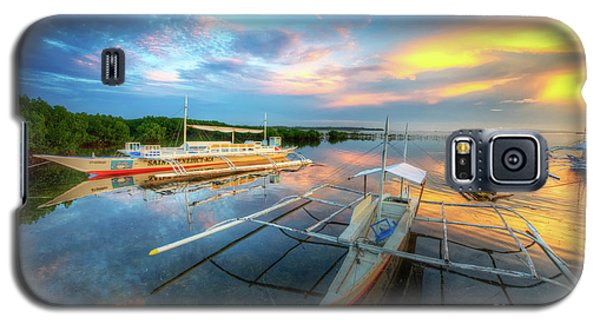 Galaxy S5 Case featuring the photograph Panglao Port Sunset 9.0 by Yhun Suarez