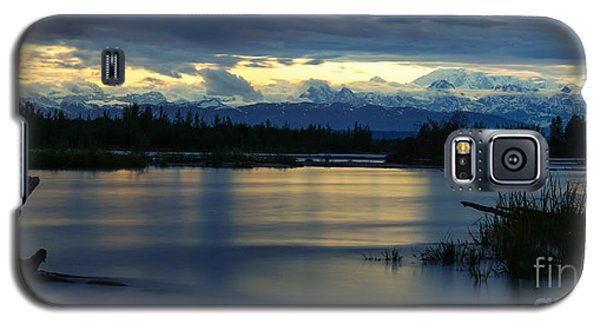 Pano Alaska Midnight Sunset Galaxy S5 Case by Jennifer White