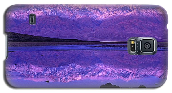 Panorama Badwater And The Panamint Range At Sunrise Death Valley Galaxy S5 Case