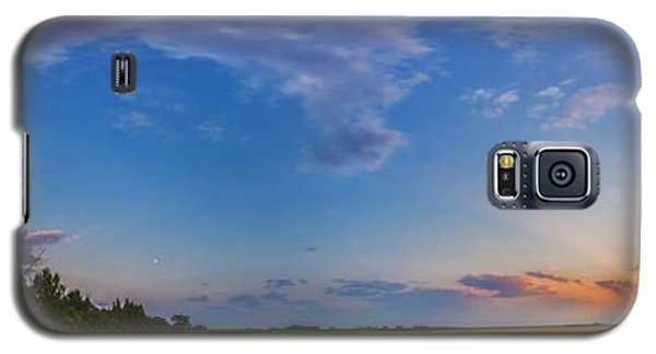 Panorama Of A Colorful Sunset Galaxy S5 Case