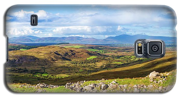 Galaxy S5 Case featuring the photograph Panorama Of A Colourful Undulating Irish Landscape In Kerry by Semmick Photo