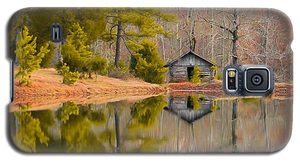 Panorama Of Cabin By The Lake Galaxy S5 Case by Shelby  Young
