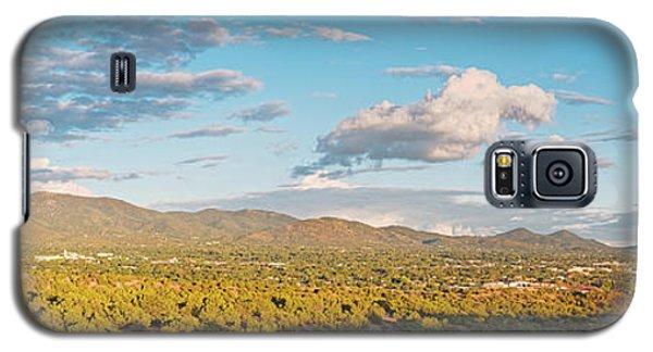 Sangre De Cristo Galaxy S5 Case - Panorama Of Santa Fe And Sangre De Cristo Mountains - New Mexico Land Of Enchantment by Silvio Ligutti