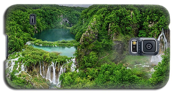 Panorama Of Turquoise Lakes And Waterfalls - A Dramatic View, Plitivice Lakes National Park Croatia Galaxy S5 Case