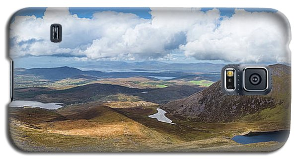 Galaxy S5 Case featuring the photograph Panorama Of Valleys And Mountains In County Kerry On A Summer Da by Semmick Photo