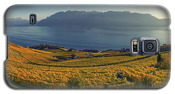 Panorama On Lavaux Region, Vaud, Switzerland Galaxy S5 Case