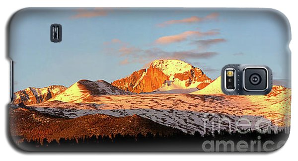 Panorama View Of Longs Peak At Sunrise Galaxy S5 Case by Ronda Kimbrow
