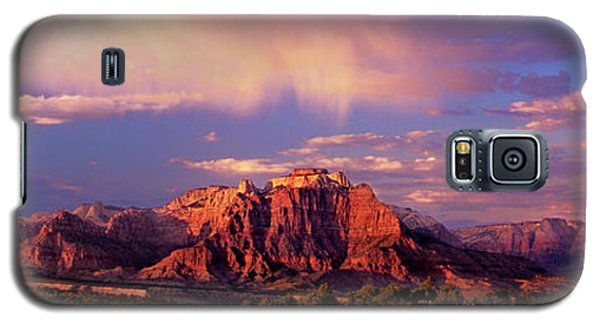Panorama West Temple At Sunset Zion Natonal Park Galaxy S5 Case