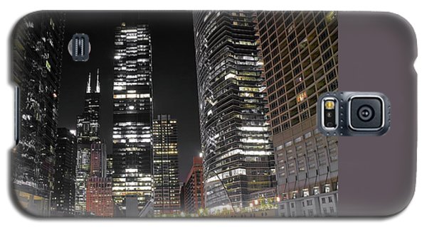 Panoramic Lakefront View In Chicago Galaxy S5 Case by Frozen in Time Fine Art Photography