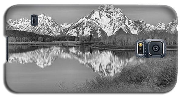 Panoramic Reflections At Oxbow Black And White Galaxy S5 Case by Adam Jewell