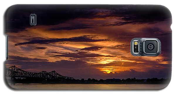 Panoramic Sunset At Natchez Galaxy S5 Case