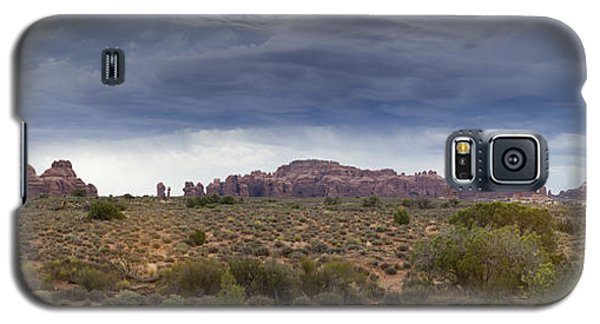 Panoramic View At Arches National Park Galaxy S5 Case