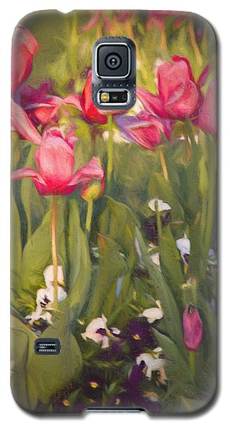 Pansies And Tulips Galaxy S5 Case by Lana Trussell