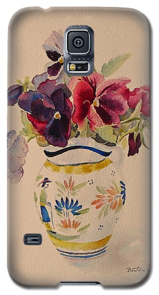 Pansies In A Quimper Pot Galaxy S5 Case