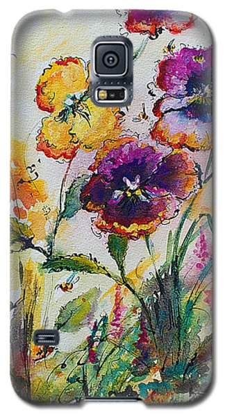 Pansies In My Garden Watercolor And Ink Galaxy S5 Case